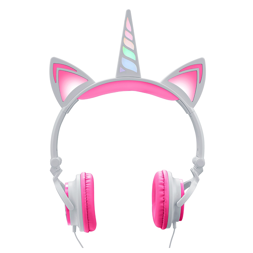 3a4931d0c3f Light-Up Unicorn LED Headphones 7 1/4in x 10 1/4in | Party City