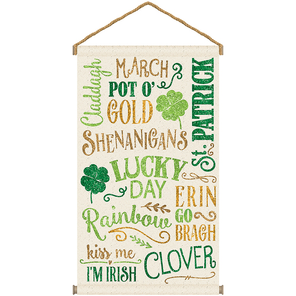 St. Patrick's Day Large Canvas Sign Image #1