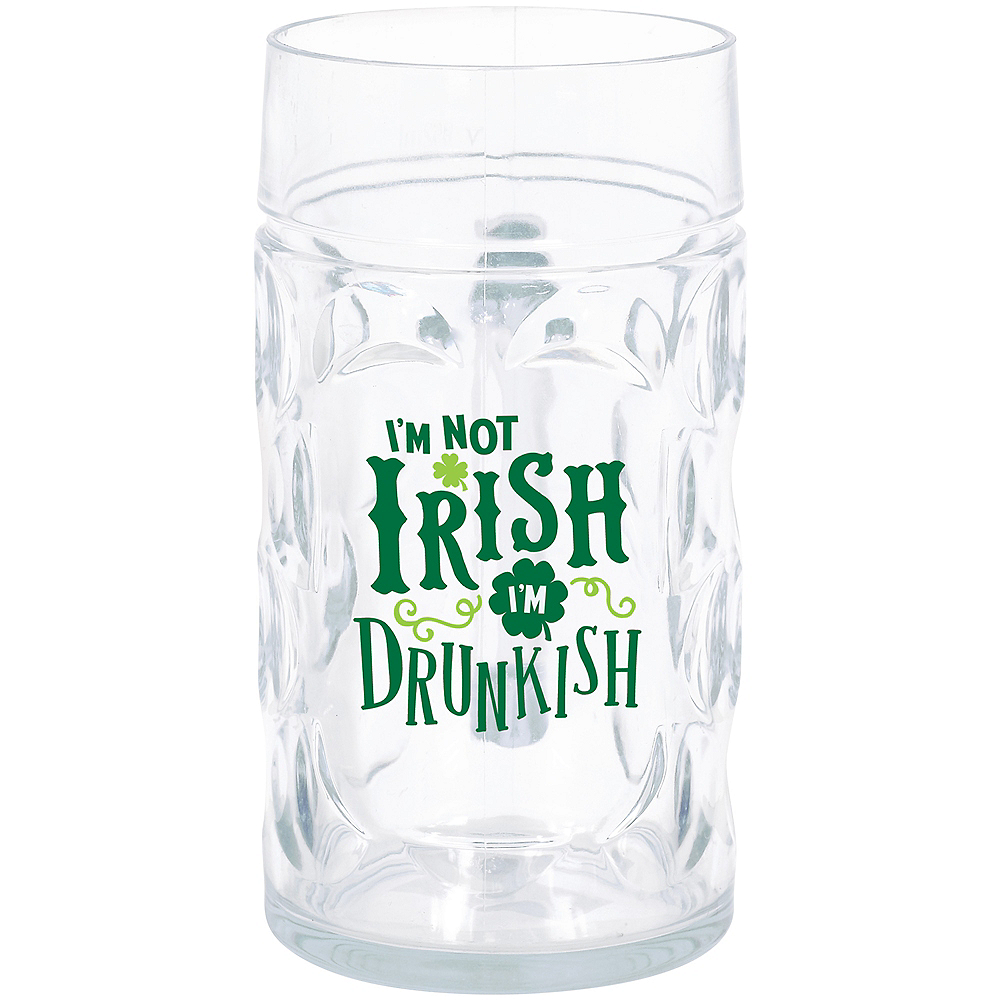 Nav Item for I'm Not Irish I'm Drunkish Beer Mug Image #1