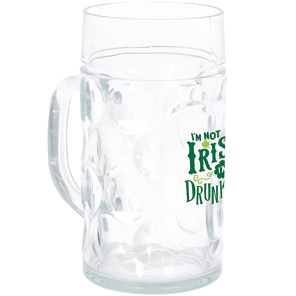 I'm Not Irish I'm Drunkish Beer Mug Image #2
