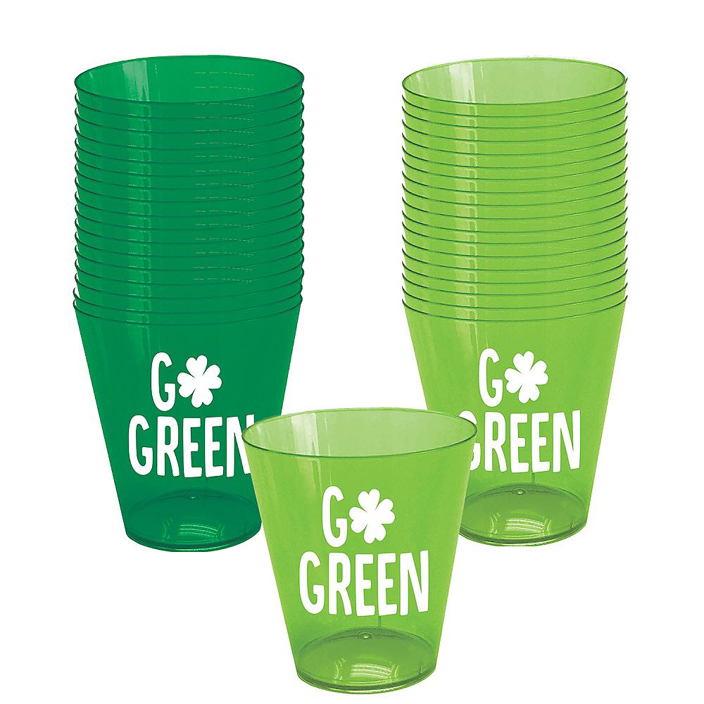 Go Green St. Patrick's Day Shot Glasses 40ct Image #1