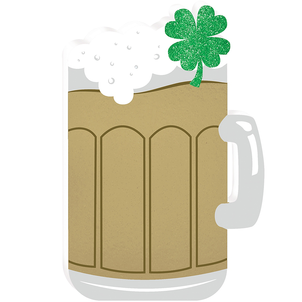 Small Shamrock Beer Mug Sign Image #1
