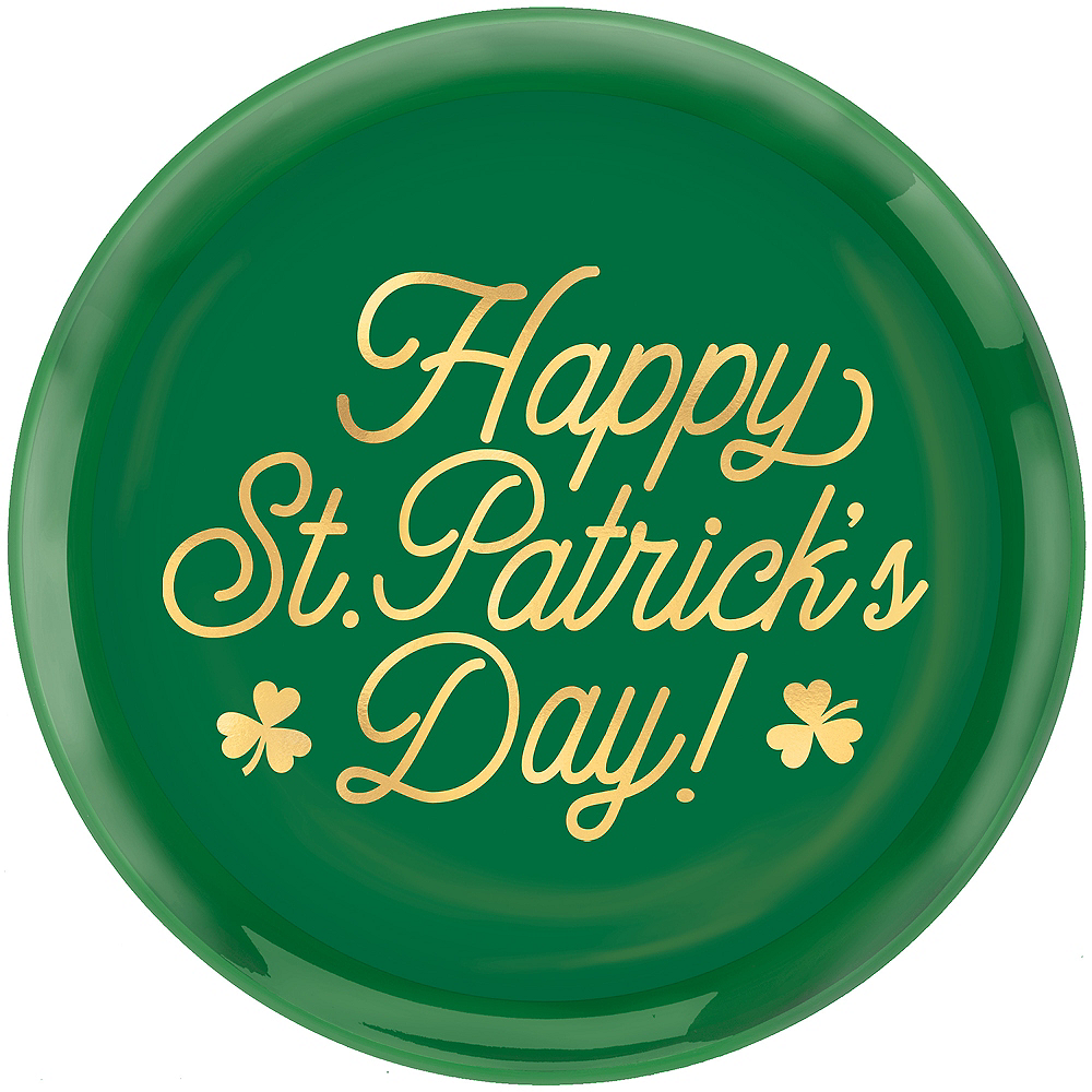 Metallic Happy St. Patrick's Day Serving Tray Image #1