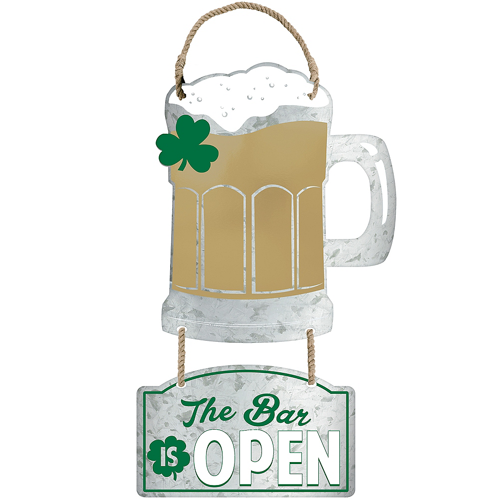 Beer Mug Cutout Metal Hanging Sign Image #1