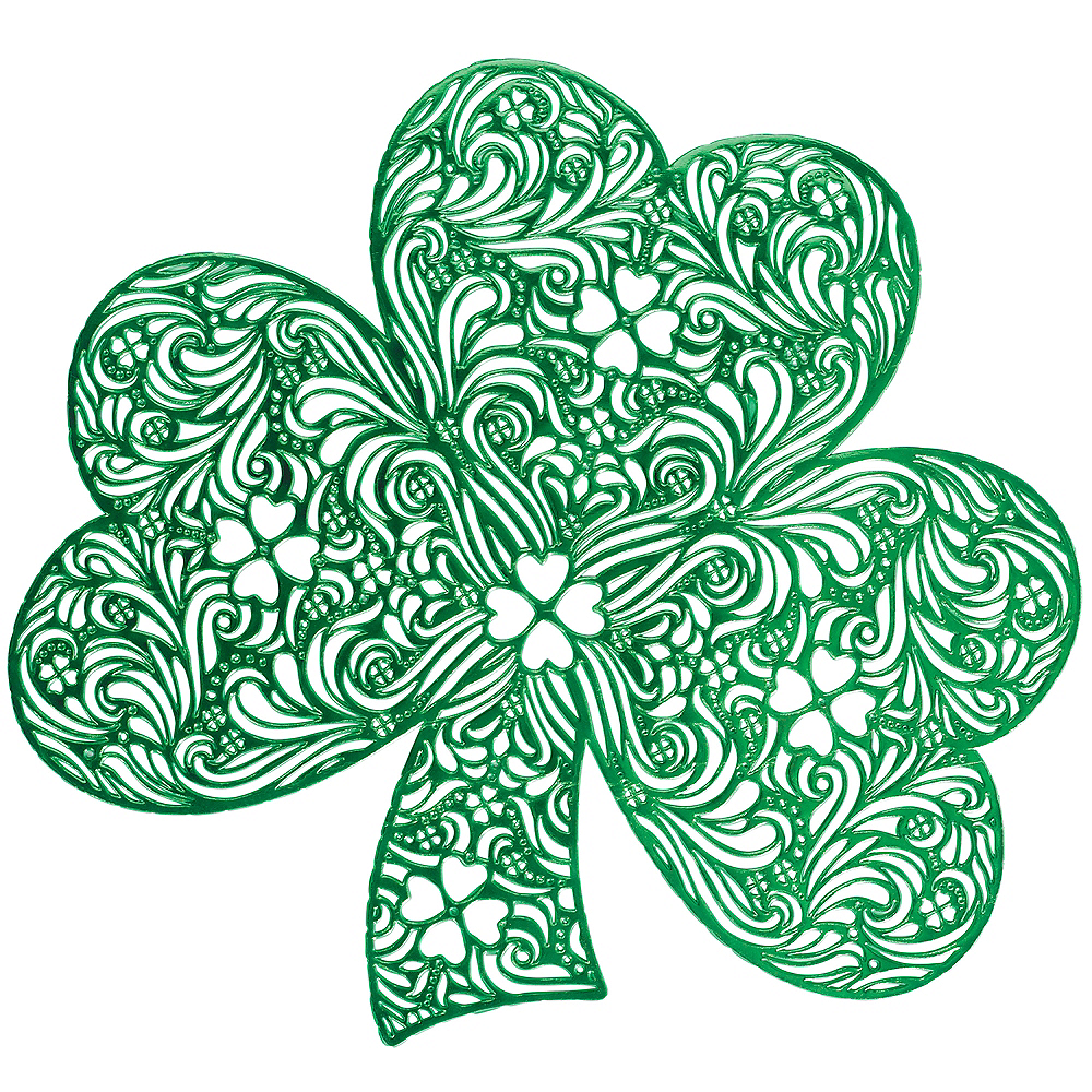 Metallic Green Shamrock Vinyl Placement Image #1