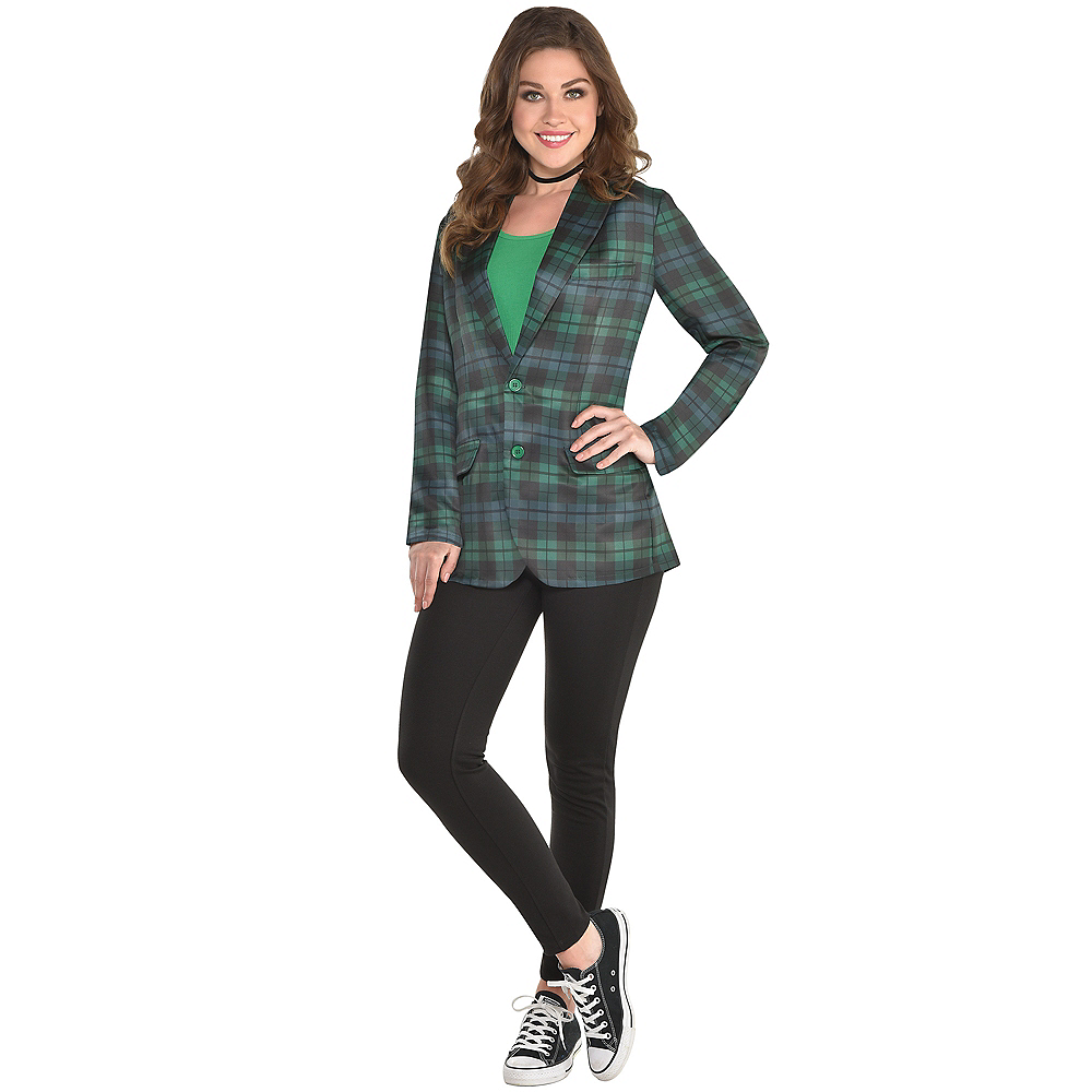 Adult Green Plaid Blazer Image #2