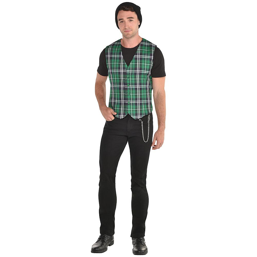 Adult Green Tartan Plaid Vest Image #1