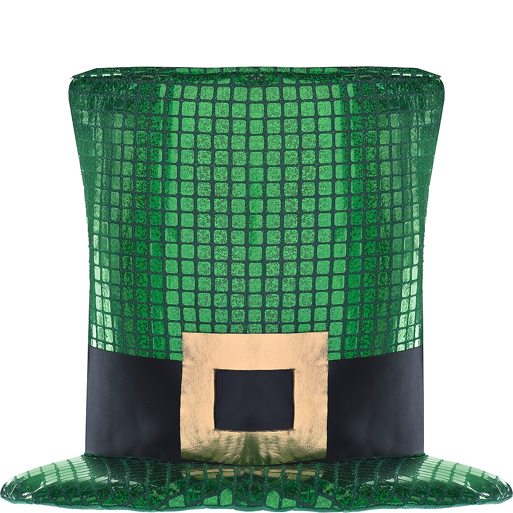 Oversized Sequin St. Patrick's Day Hat Image #1