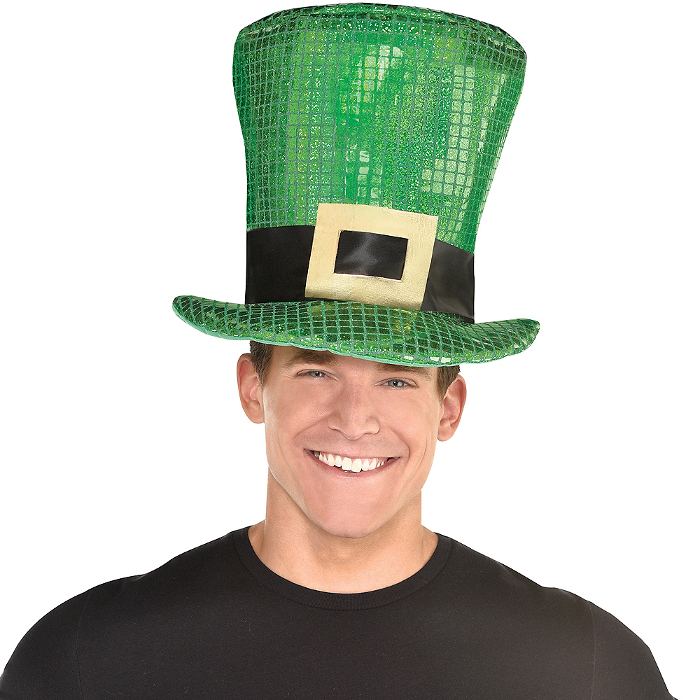 Oversized Sequin St. Patrick's Day Hat Image #2