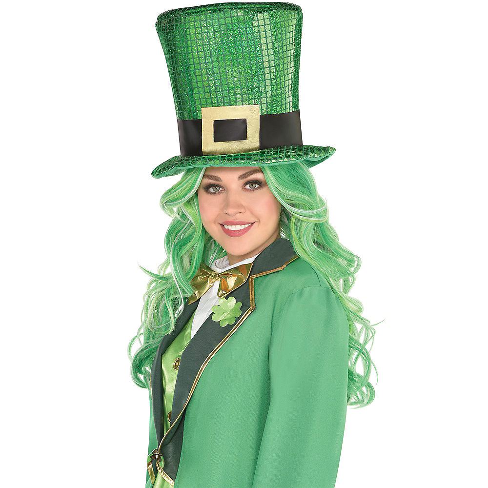 Oversized Sequin St. Patrick's Day Hat Image #3