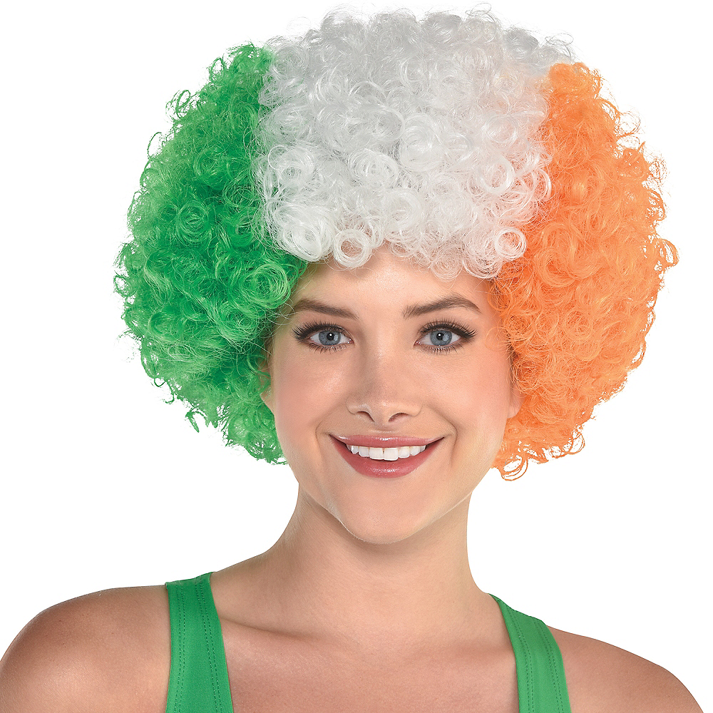 Irish Flag Afro Wig Image #2