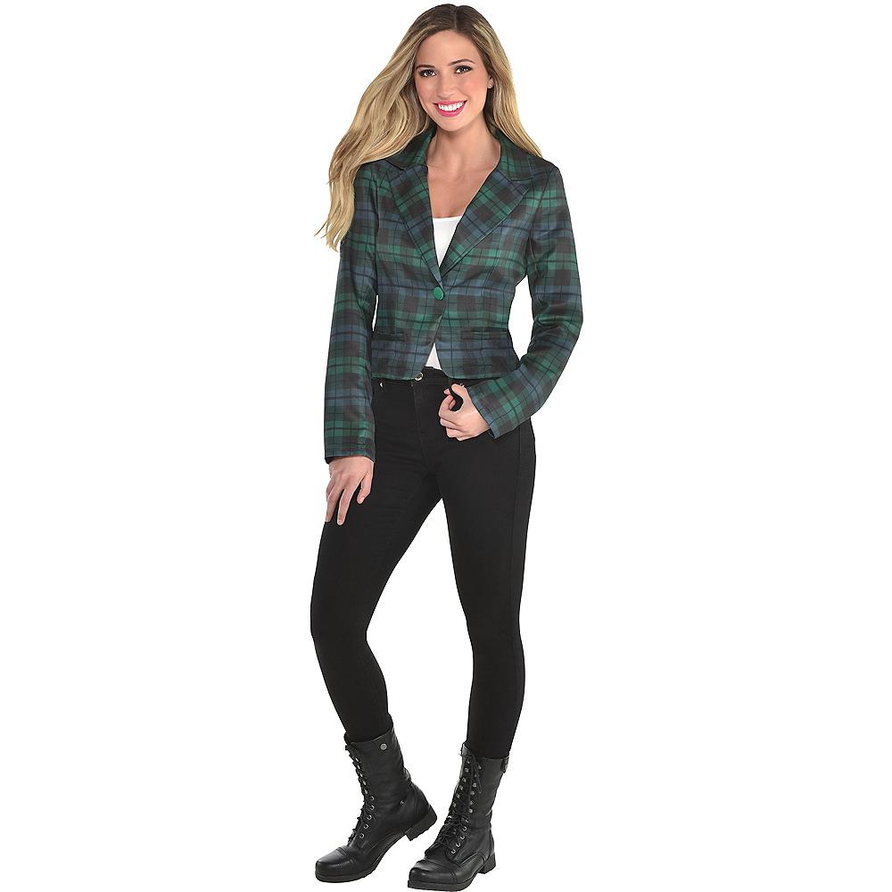 Adult Women's Plaid Suit Jacket Image #1