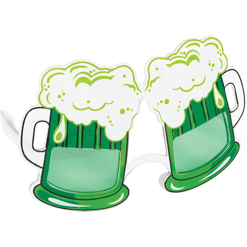 Green Beer Mug Glasses Image #1