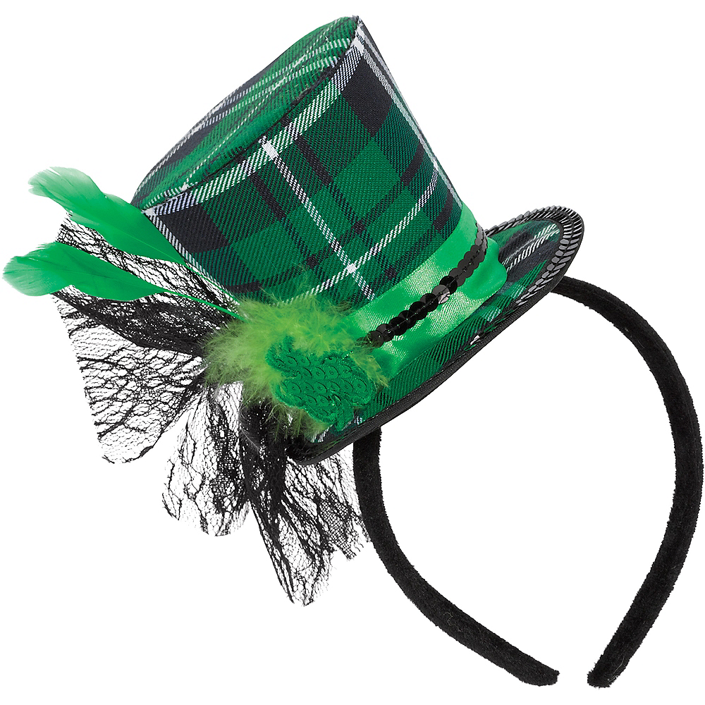 St. Patrick's Day Top Hat Headband Image #1