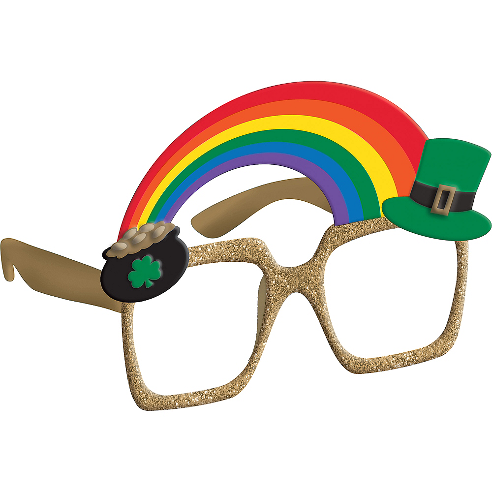 Pot of Gold & Rainbow St. Patrick's Day Glasses Image #1