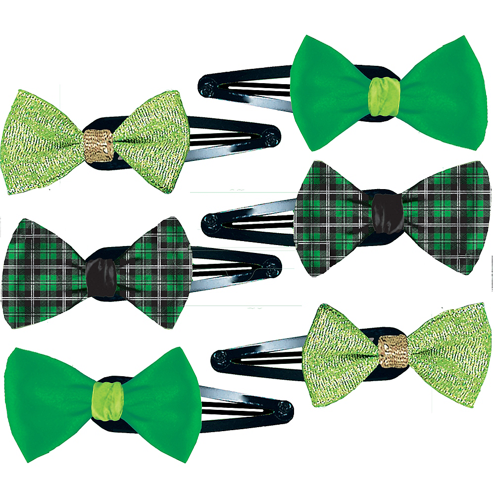 St. Patrick's Day Hair Clips 6ct Image #1