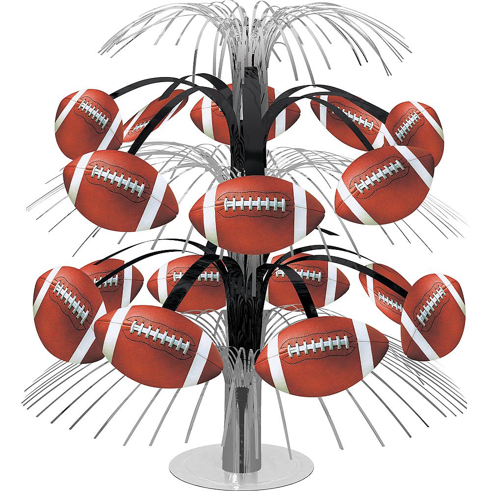 Black & Silver Football Cascade Centerpiece Image #1