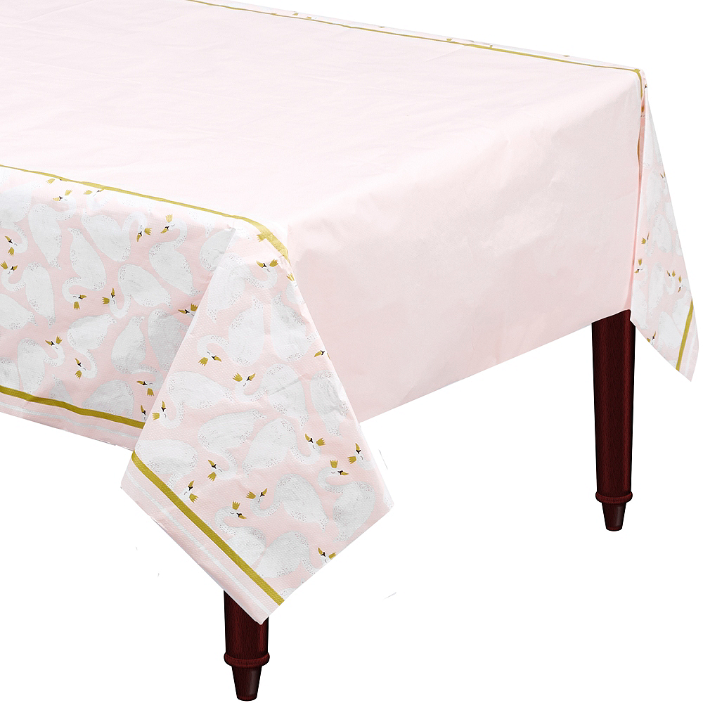 Swan Paper Table Cover Image #1