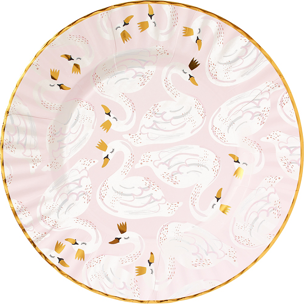Nav Item for Swan Dinner Plates 8ct Image #1