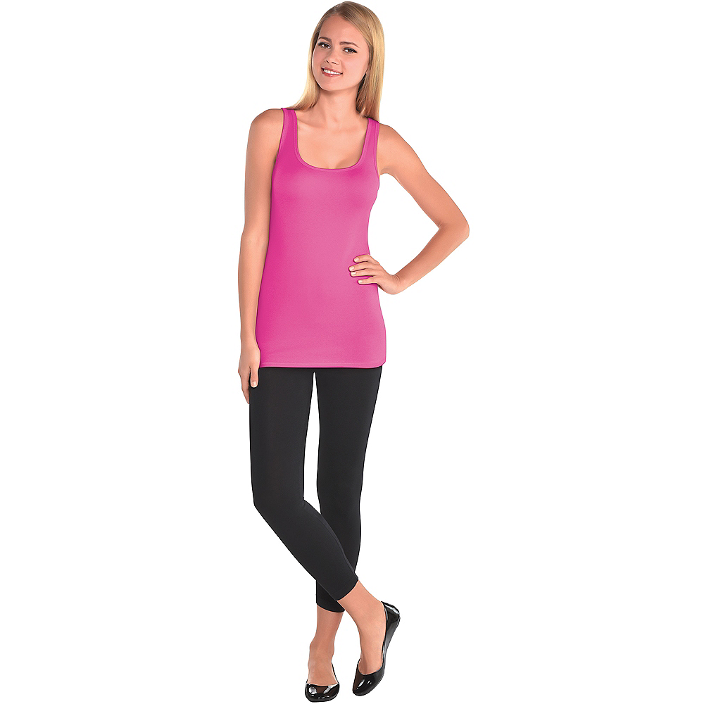 Womens Pink Tank Top Image #2