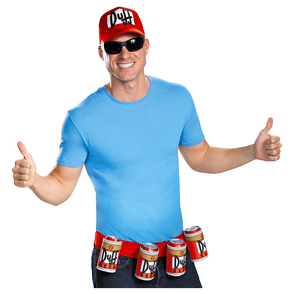 Adult Duffman Accessory Kit 2pc - The Simpsons Image #1