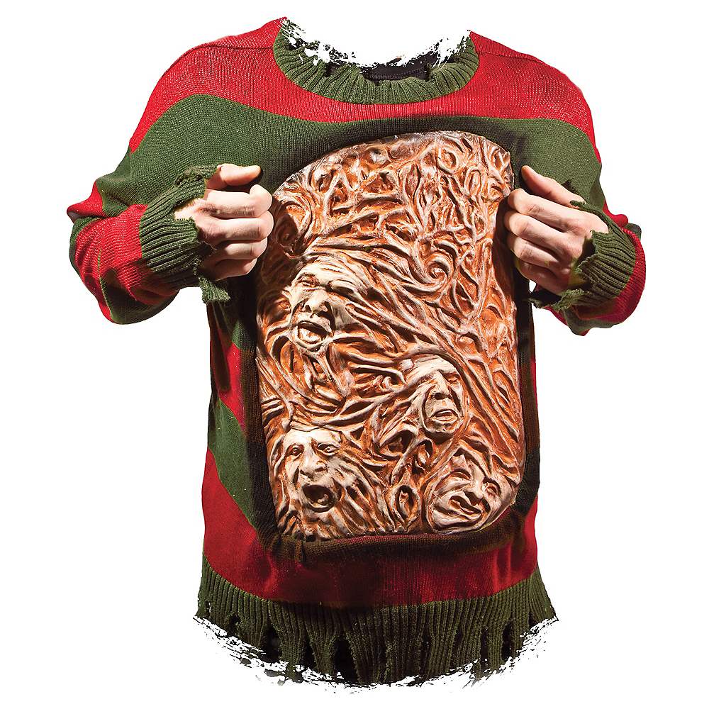 Adult Animated Freddy Krueger Chest of Souls Sweater Image #1