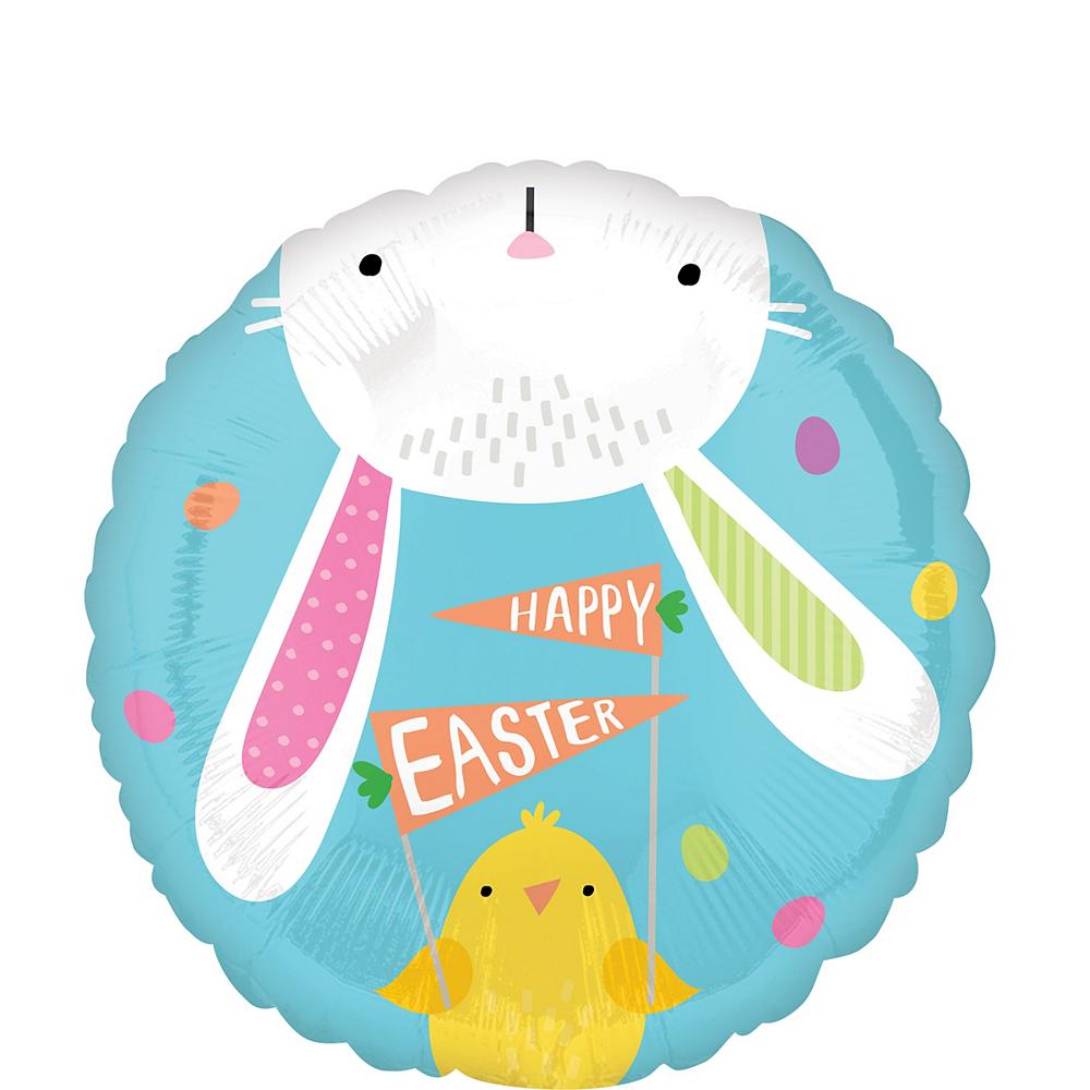 Hello Bunny Easter Balloon, 17in Image #1