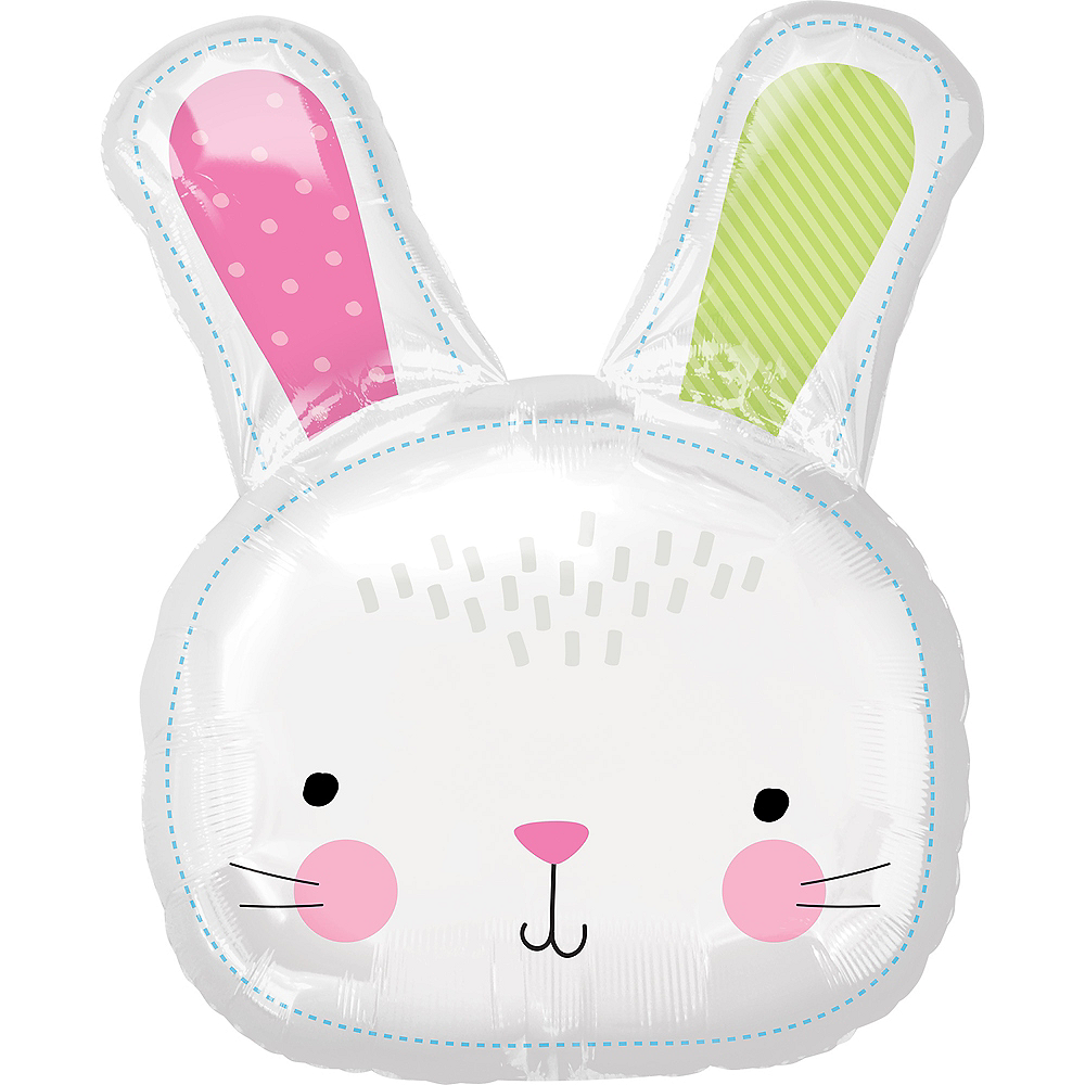 Nav Item for Giant Hello Bunny Balloon, 24in Image #1