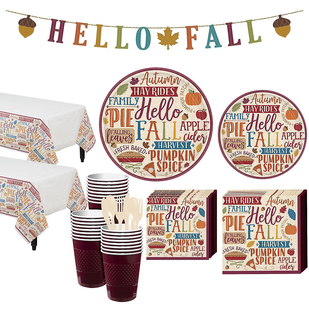 Fall Phrases Party Kit for 32 Guests Image #1