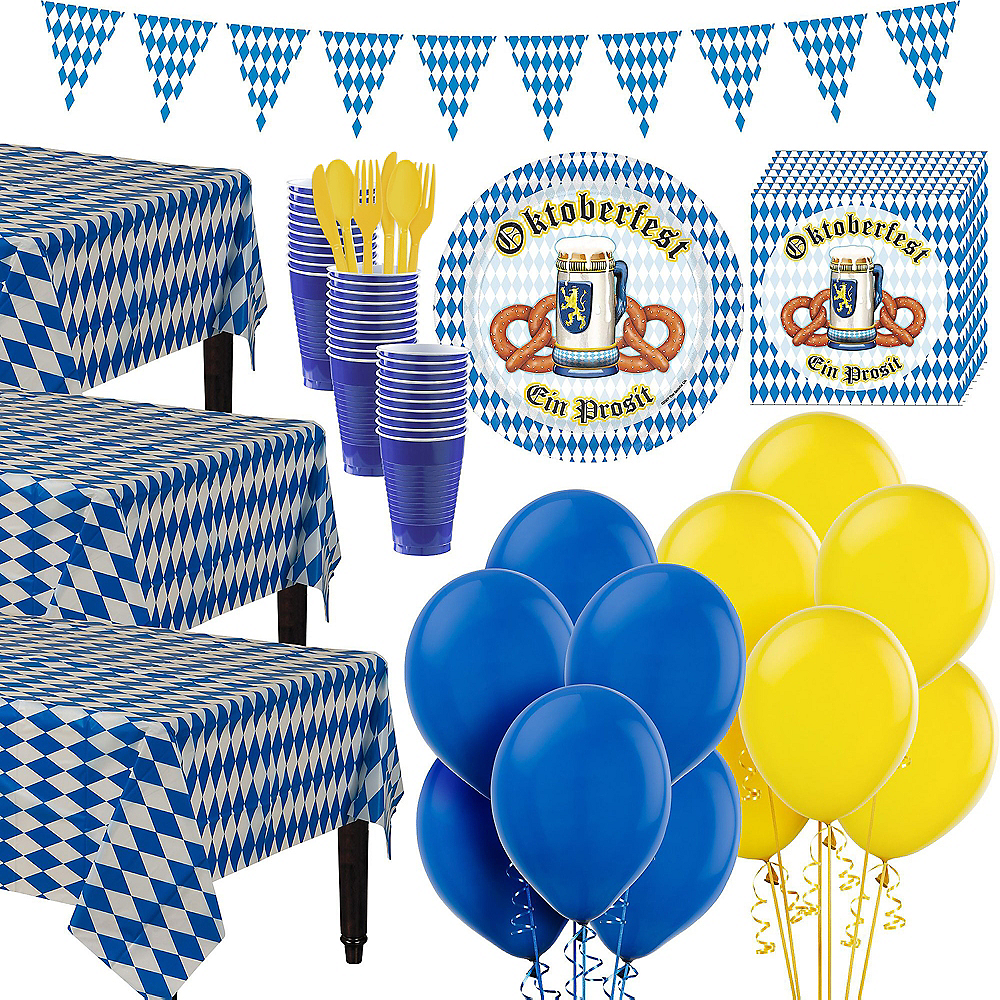 Oktoberfest Tableware Party Kit for 50 Guests Image #1