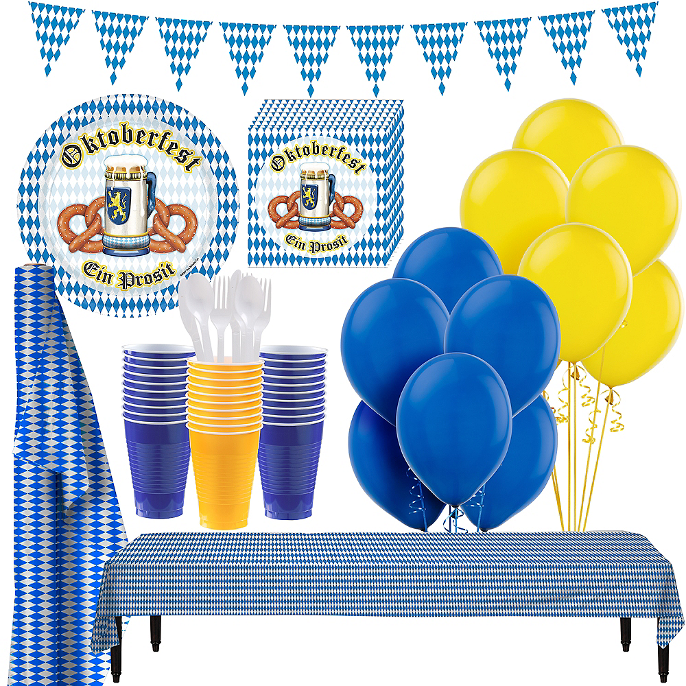 Oktoberfest Tableware Party Kit for 100 Guests Image #1