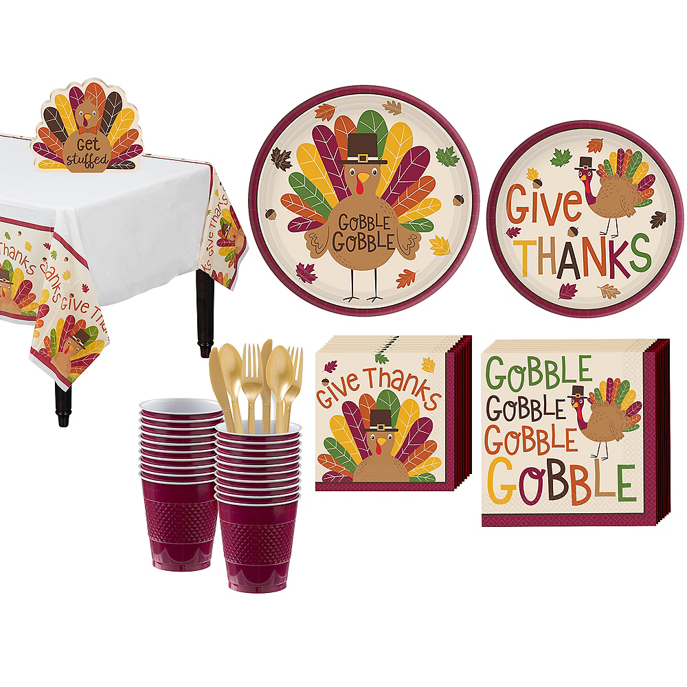 Gobble Gobble Tableware Kit for 18 Guests Image #1