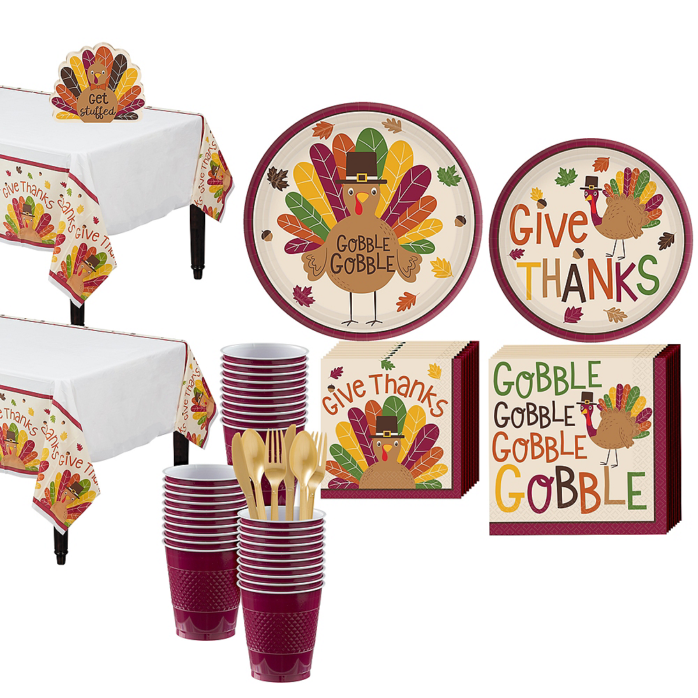Gobble Gobble Tableware Kit for 36 Guests Image #1