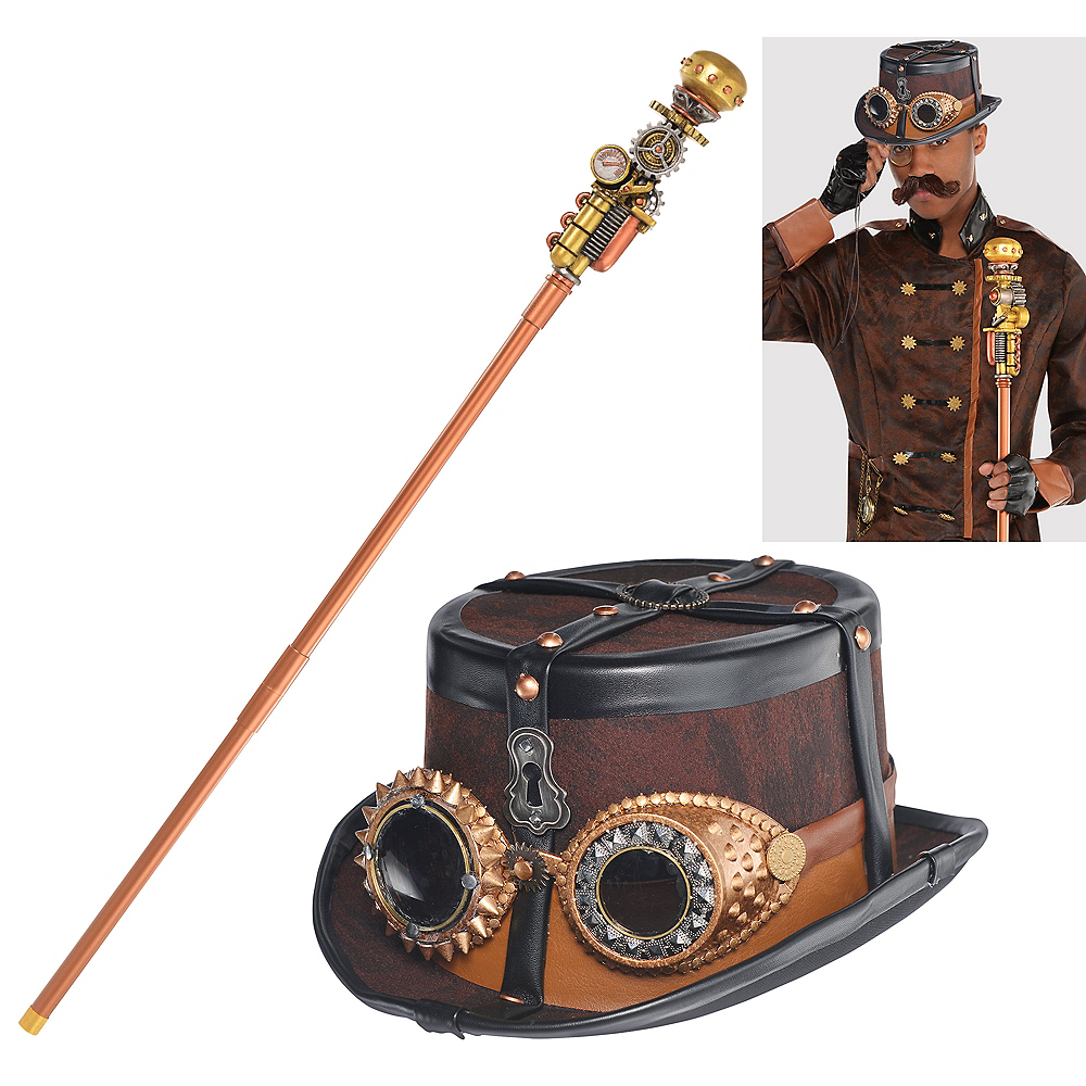 Mens Steampunk Accessory Kit Image #1