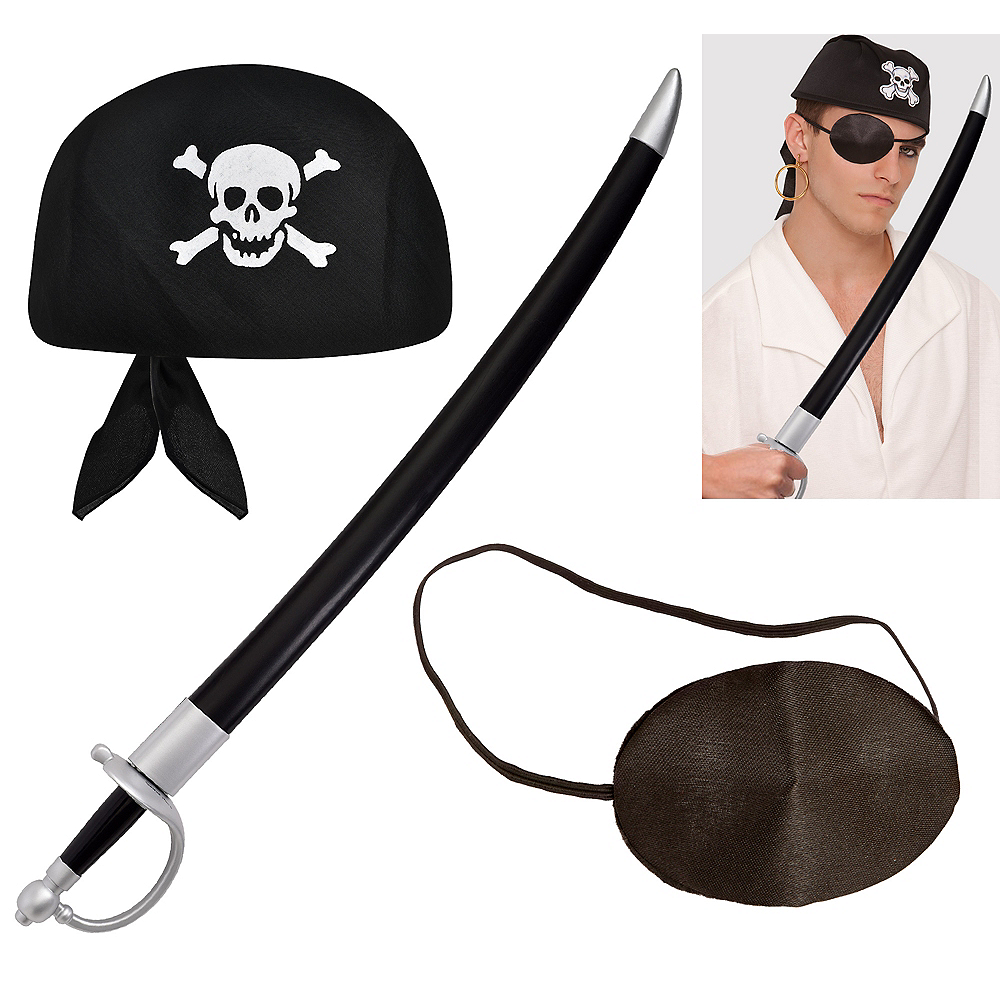 Mens Pirate Accessory Kit Image #1