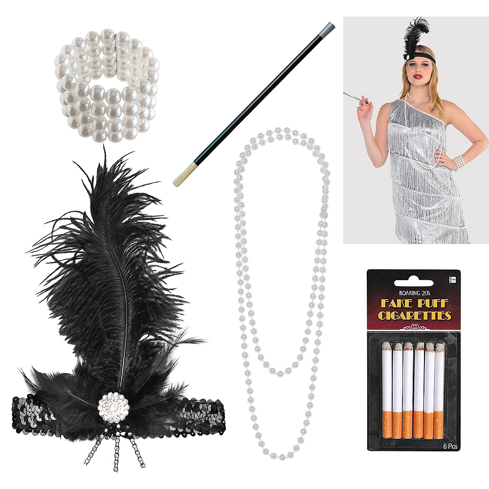 Womens Flapper Accessory Kit Image #1