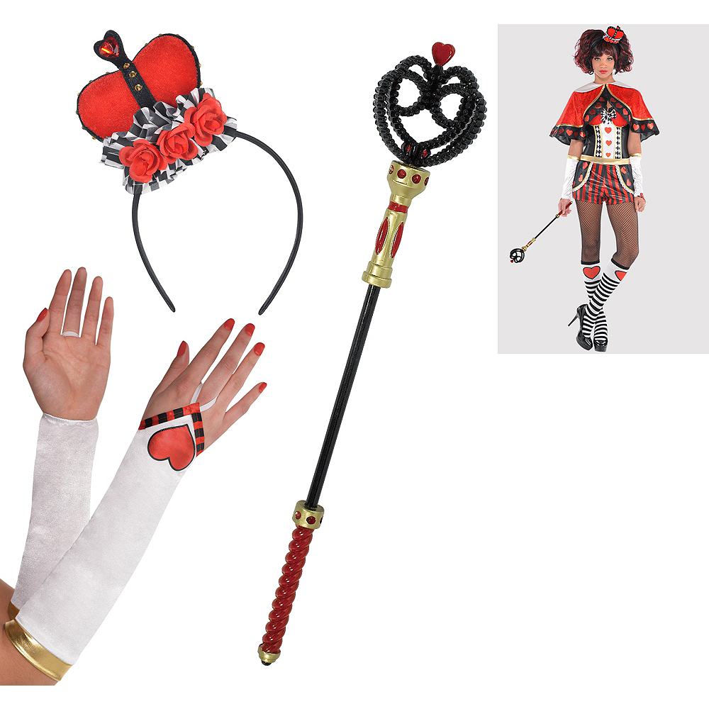 Womens Queen of Hearts Accessory Kit Image #1