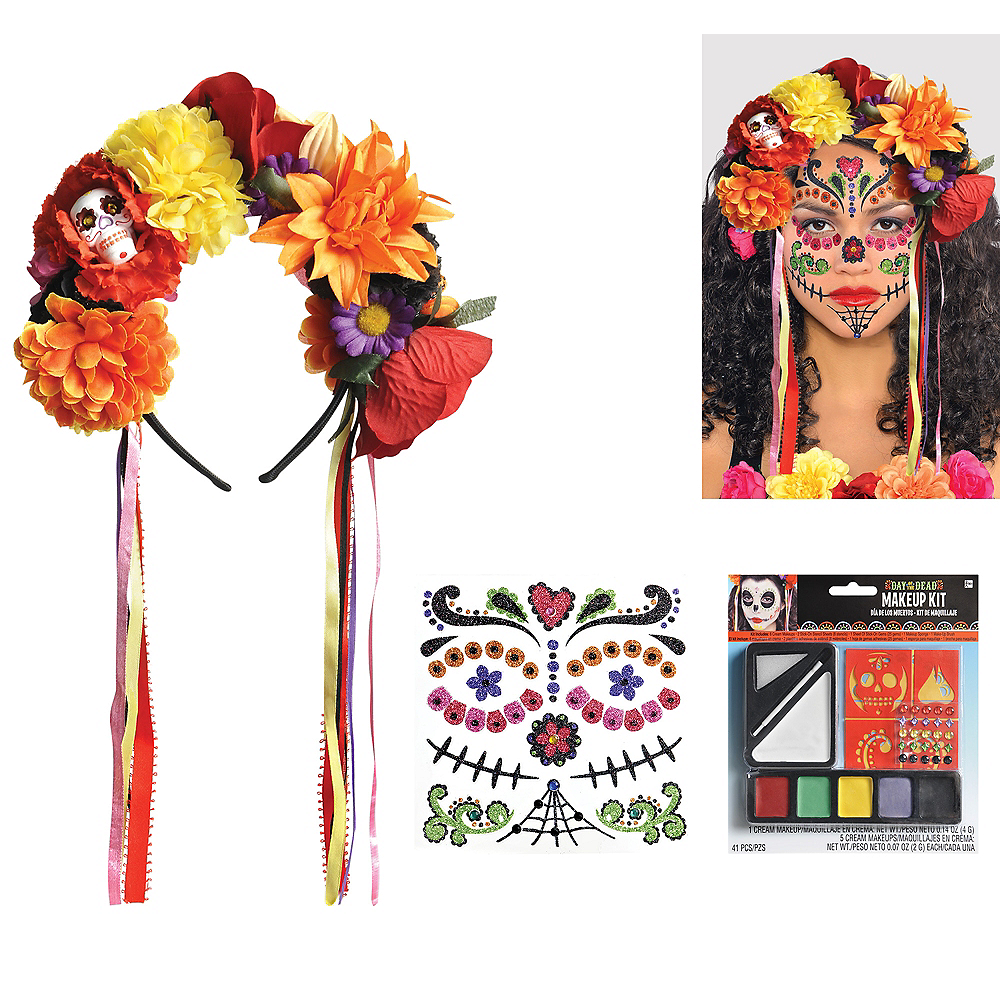 Womens Day of the Dead Accessory Kit Image #1
