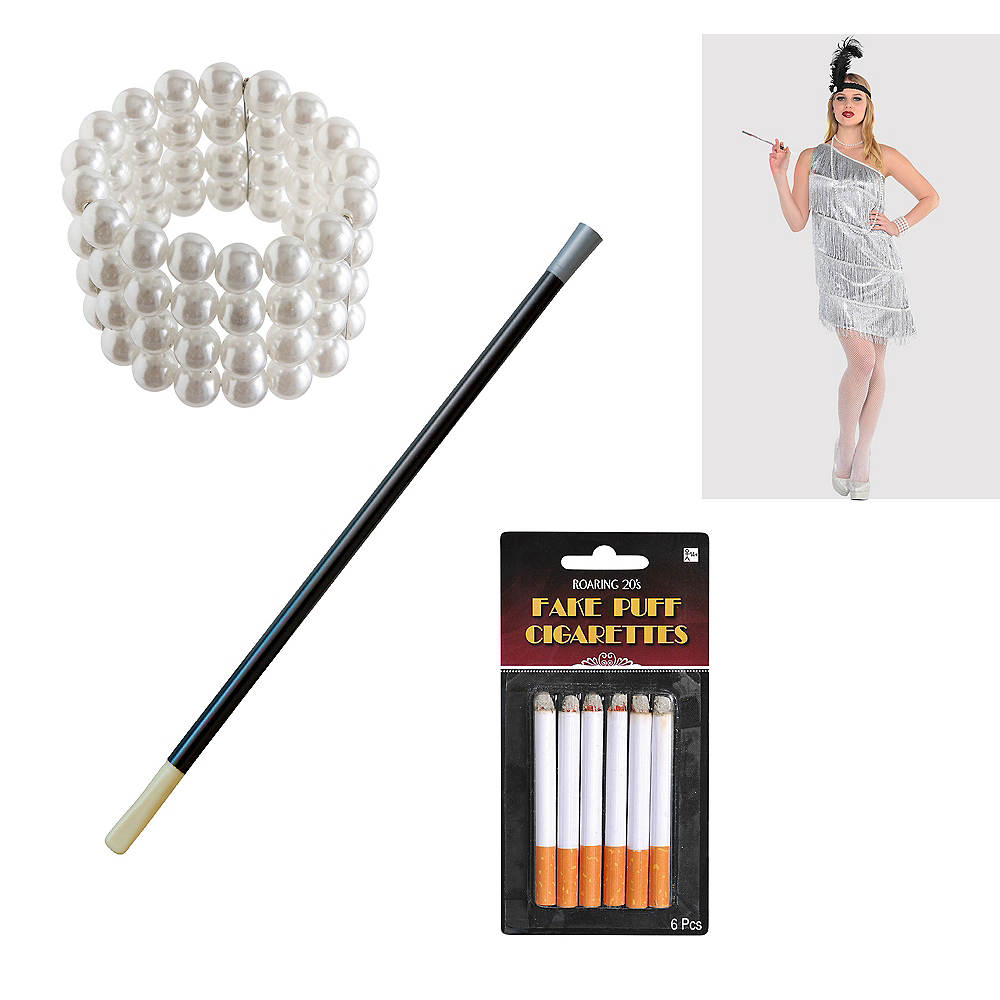 Womens 20s Flapper Accessory Kit Image #1