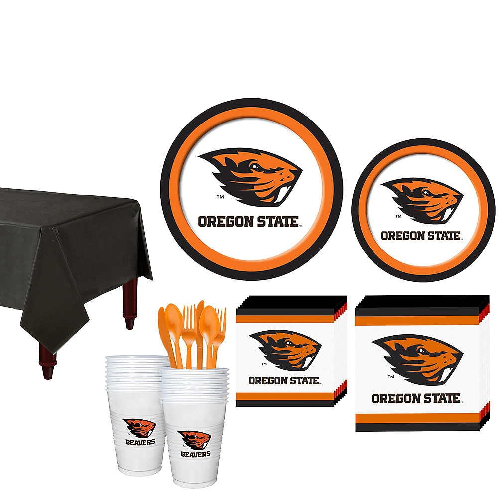 Oregon State Beavers Party Kit for 16 Guests Image #1
