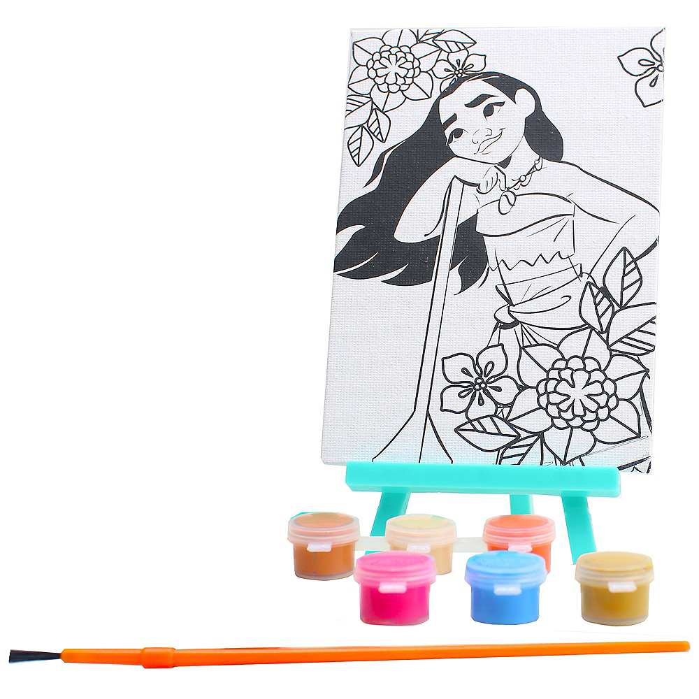 Moana Paint & Canvas Set 9pc Image #1