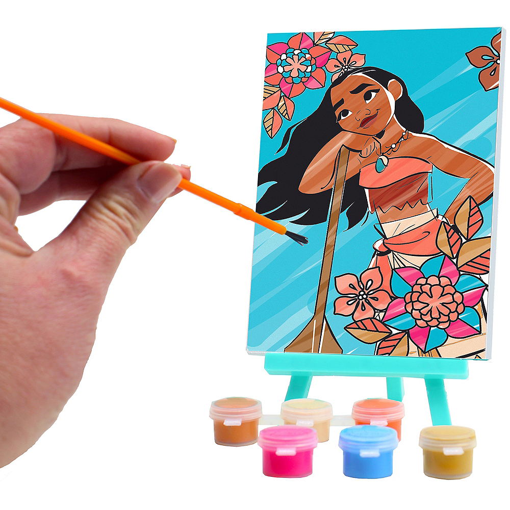 Moana Paint & Canvas Set 9pc Image #2