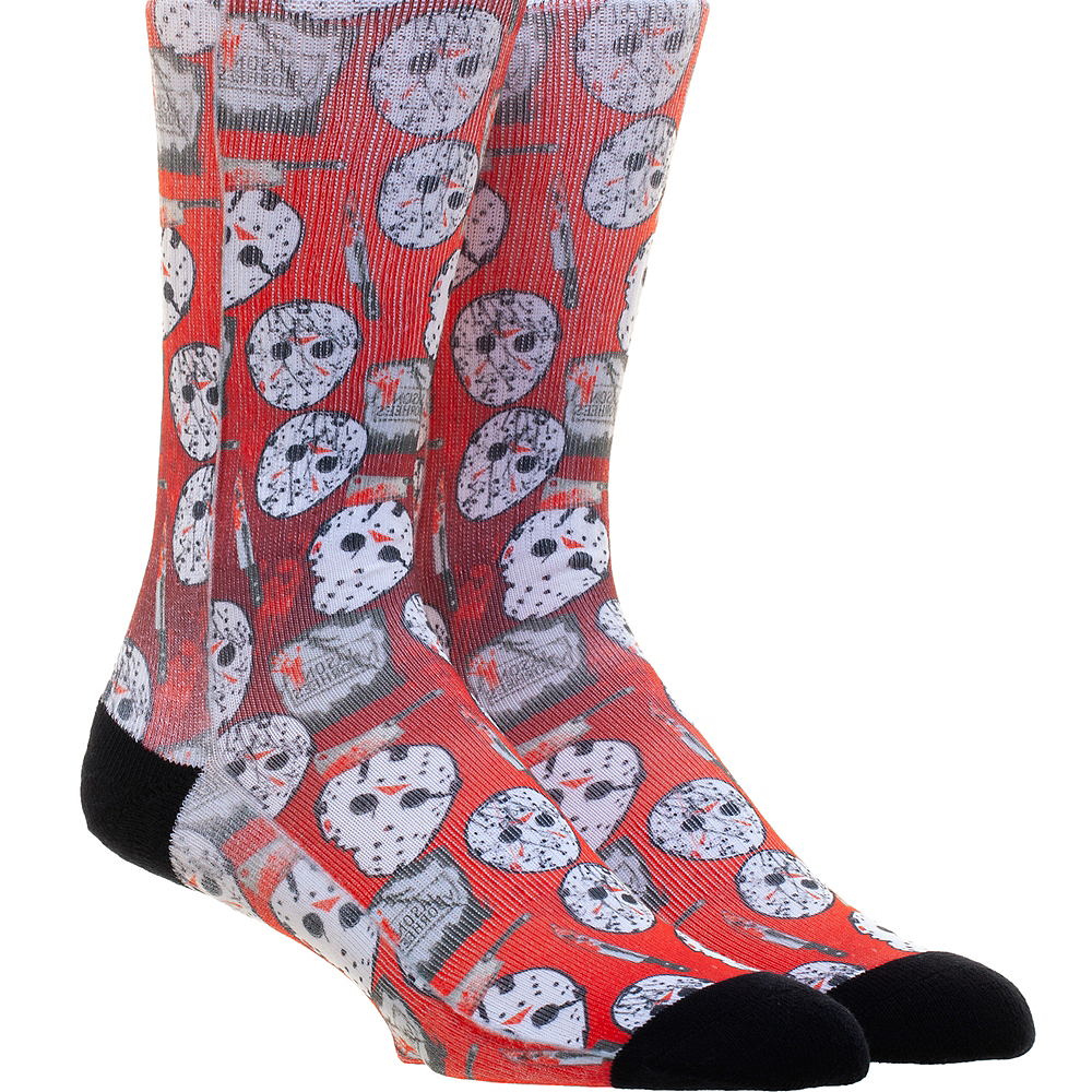 Adult Jason Vorhees Socks - Friday the 13th Image #1
