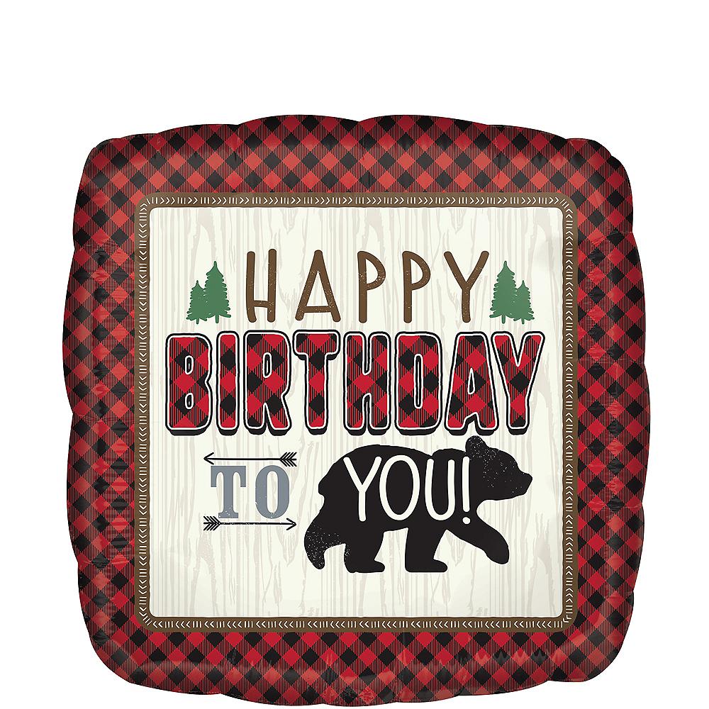 Giant Little Lumberjack Birthday Balloon Image #1
