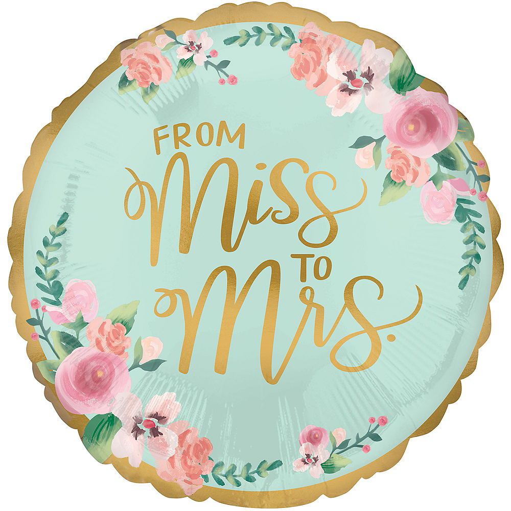 Mint to Be Bridal Shower Balloon, 17in Image #2