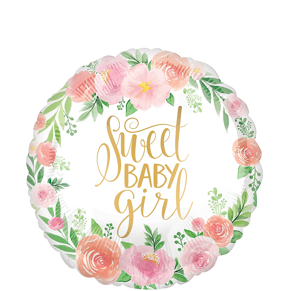 Sweet Baby Girl Balloon Image #1