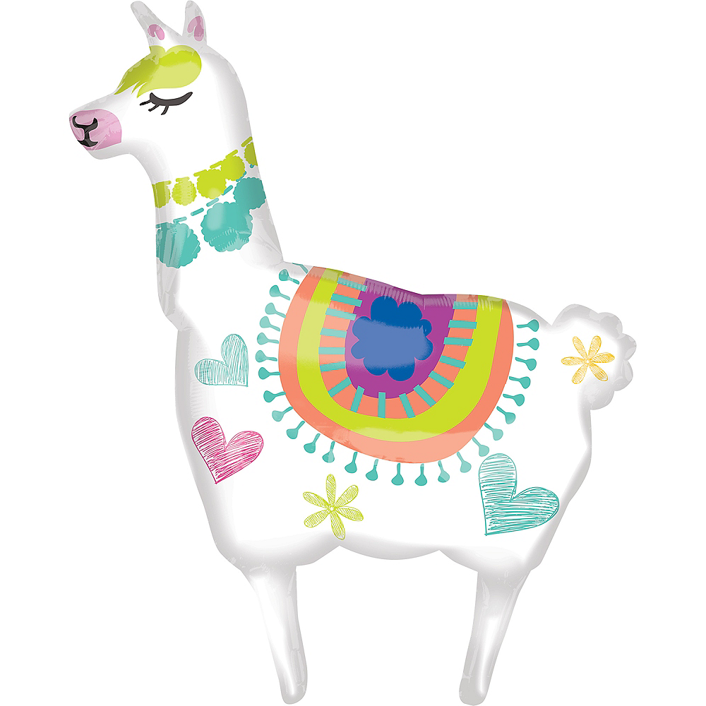 Giant Selfie Celebration Llama Balloon Image #1