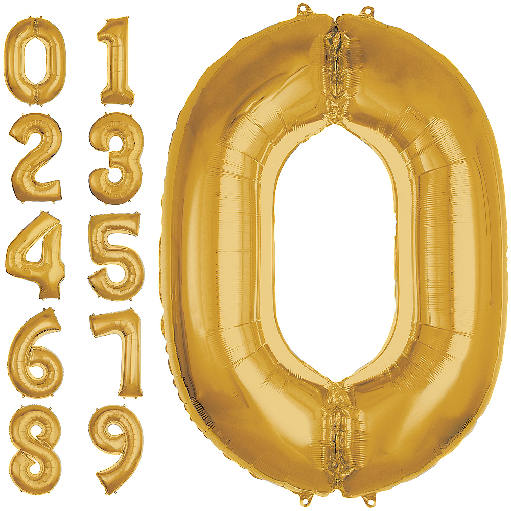 50in Gold Number Balloon (0) Image #1