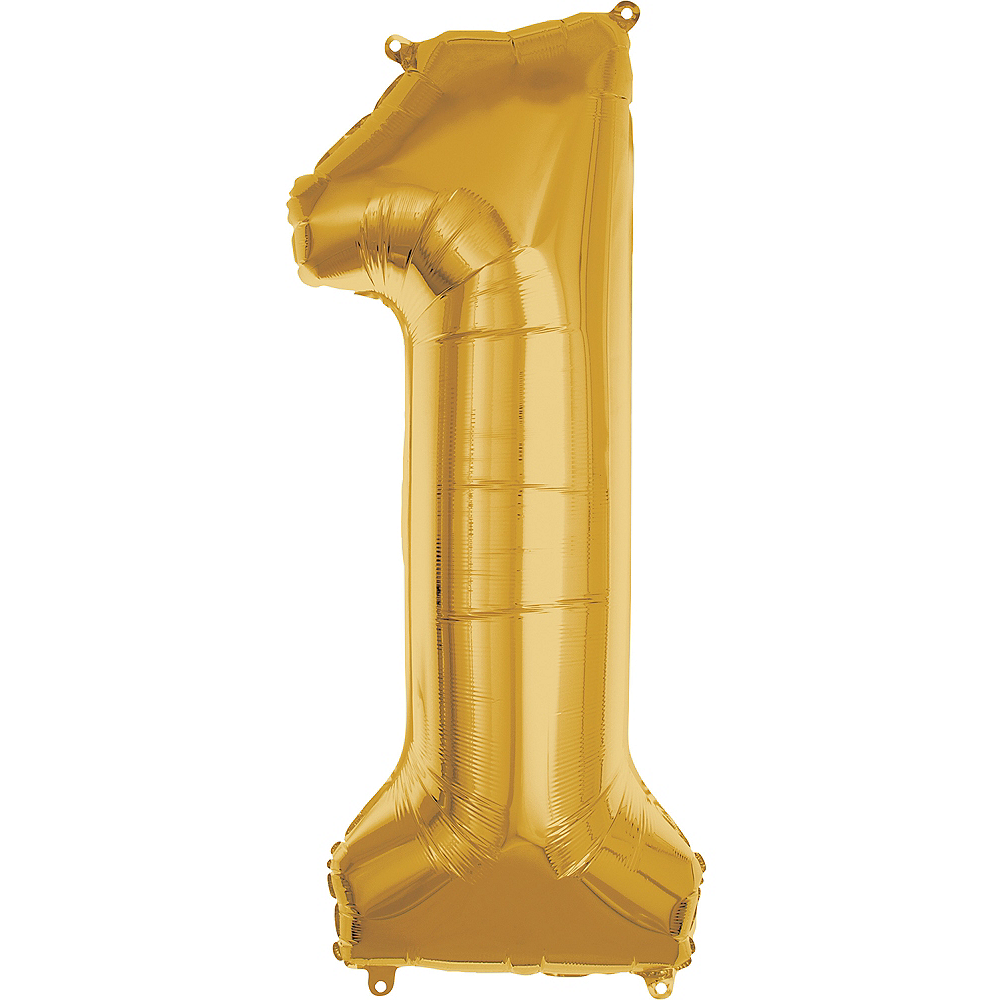 50in Gold Number Balloon (1) Image #1