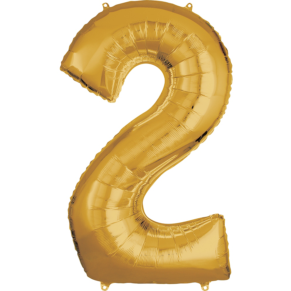 50in Gold Number Balloon (2) Image #1